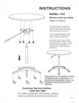 Boss N30 Mobile Multi Use Table Assembly Instructions