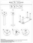 Boss NTT4XLB NTT4XLBS Black Metal Post Leg Assembly Instructions