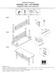 Boss NTTMP48 Training Table Modesty Panel Assembly Instructions
