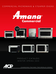 Amana Spring 2020 Products Catalog