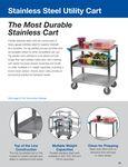 Carlisle Stainless Steel Utility Cart Brochure