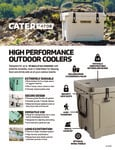 CaterGator Rotomolded Cooler Sellsheet