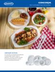 Dart Concorde Non-Laminated Foam Dinnerware Brochure