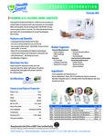 Foaming 62% Alcohol Hand Sanitizer Brochure