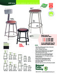National Public Seating 6200 Series Stool Sell Sheet