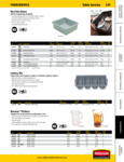 Rubbermaid Catalog Foodservice Table Service