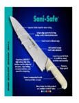 Dexter-Russell SaniSafe Knives Informational Brochure