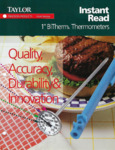 Taylor Instant Read Dial Thermometers Brochure