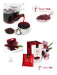 Wild Hibiscus Heart-Tee Hibiscus Herbal Tea Bag Brochure
