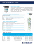Brochure for Scotsman Water Filtration Systems