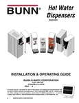 Bunn Hot Water Dispensers Manual