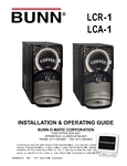Bunn LCA-1 Liquid Coffee Dispenser Manual