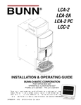 Bunn LCA-2 Liquid Coffee Dispensers Manuals