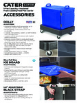 CaterGator Pan Accessories Spec Sheet