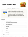 Chicken with Malta Sauce Recipe