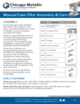 CM Cake Filler Use and Care
