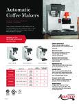 Avantco Autobrewers Sell Sheet