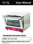 Avantco Countertop Convection Oven Operation / Parts Manual