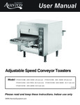 Avantco Conveyor Manual
