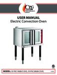 CPG 351FEC100 & 351FEC200 B,C,D,E Electrical Convention Oven Manual