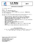 CS-81 Certificate of Compliance