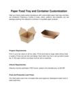 Paper Trays Customization