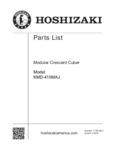 Hoshizaki KMD-410M Parts List