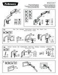 Diagram for Fellowes 8043301 Platinum Series Black Single Monitor Arm