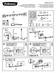 Diagram for Fellowes 8043701 Professional Series Black Horizontal Dual Monitor Arm