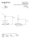 Dimensions for WorkFit by Ergotron 33351200 33350200 Standing Desktop Desk with Single Monitor Arm