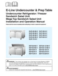 E-Line Undercounter & Prep Table Manual for EUR, EUF, EST Models