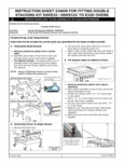Moffat E32 Convection Oven Stacking Kit Installation Manual