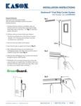 Kason EasiMount Strip Curtain Instructions