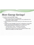 Energy Savings Details