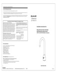 Elkay electronic sensor activated deck mounted lavatory faucet installation instructions