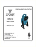 XPower FM-48 Misting Fan Manual