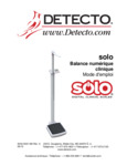 French Manual for Cardinal Detecto Solo Digital Scale