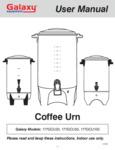 Galaxy Coffee Urn Manual