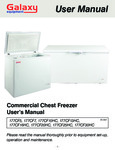 Galaxy Commercial Chest Freezer User's Manual