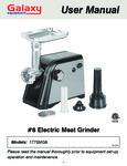 Galaxy SMG800 Economy Electric Meat Grinder Manual