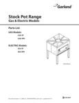 Garland G20-SP Stock Pot Range Parts