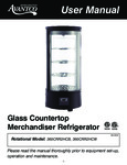 Glass Countertop Merchandiser Refrigerator
