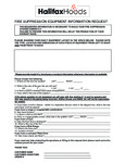 Halifax Fire Suppression Layout Form