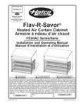 Hatco Flav R Savor Heated Air Curtain Cabinet Manual