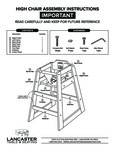 LT&S Rubber Wood High Chair Instructions
