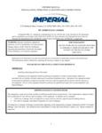 Imperial Range IPC Series Pasta Cooker Manual