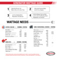 Simpson 70061 Portable 3 HP Inverter / Generator with Recoil Start Infographic