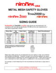 Sizing Guide for Niroflex Gloves