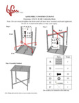 Instructions for BFM Seating SUD3232SGUT Daytona Bar Height Table with Umbrella Hole