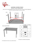Instructions for BFM Seating SUD3248SGU Daytona Dining Table with Umbrella Hole